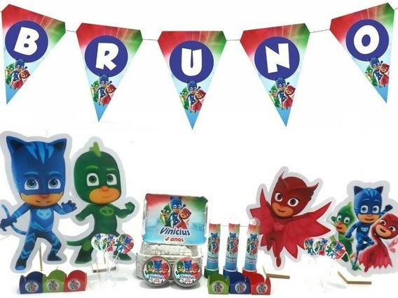 Kit Festa Infantil 300pçs - Pj Mask - Personalizado