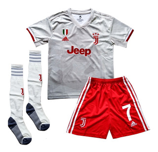 Conjunto Infantil Liverpool Uniforme Futebol Pronta Entrega