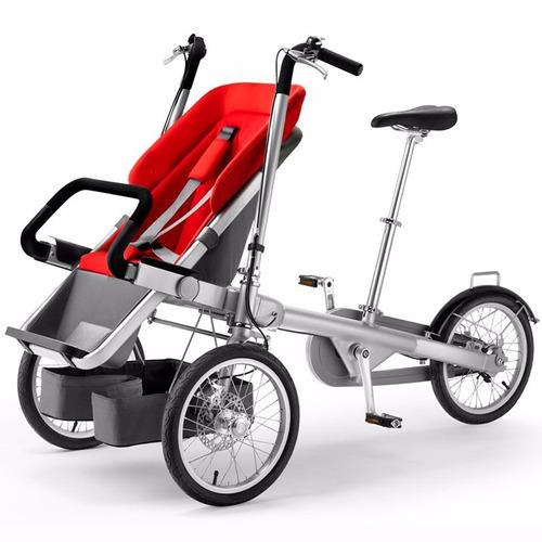 Imagen 1 de 5 de Bicicleta Coche Triciclo Paseo Para Bebé O Niño Familia 12sr