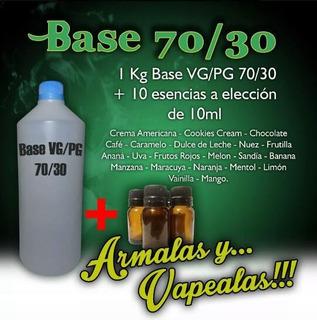 Base/alquimia Para Vapear 70/30 + 10 Esencias. Envío S/c