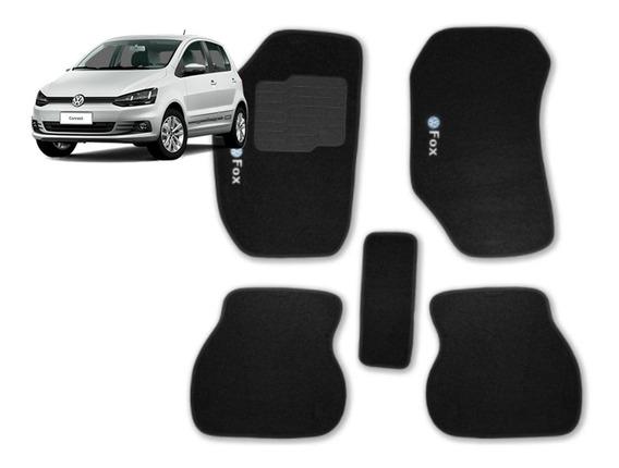 Jogo Tapetes Ecotap Soft Carpete Volkswagen Fox 03/13 Preto