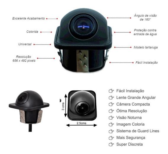 Câmera De Ré Tartaruga Com Visão Noturna Universal Rca 160º