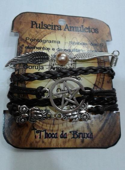 Pulseira Amuletos - Pentagrama Wicca
