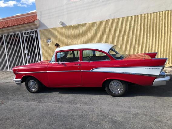 Flamante Chevrolet Clásico Bel Air 1957 Sedan 2 Puertas
