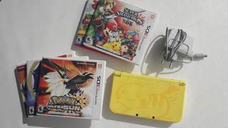 New Nintendo 3ds Xl Edición Limitada Pokémon + Juegos