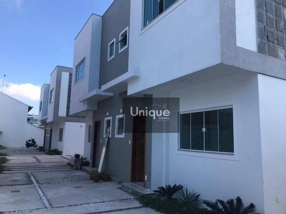 Casa Com 3 Dormitórios À Venda, 193 M² Por R$ 595.000,00 - Palmeiras - Cabo Frio/rj - Ca1013