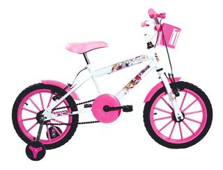 Bicicleta Aro 16 Feminino V-brake Frete Grátis Paty Ello