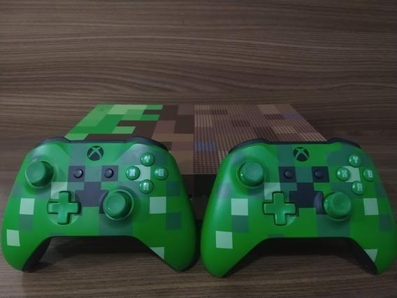 Xbox One S Edição Limitada Minecraft + 2 Controles Minecraft