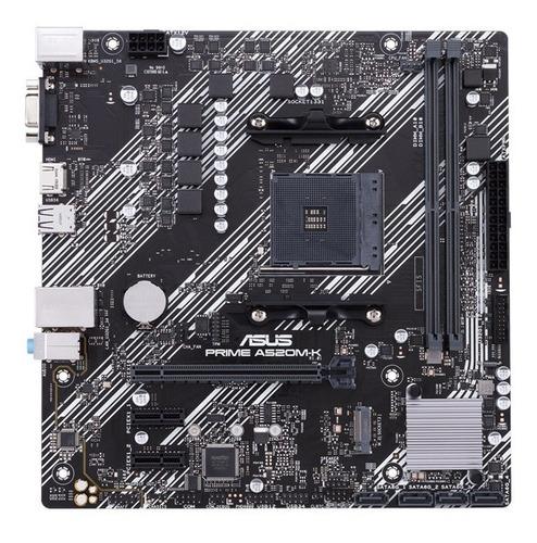 Imagen 1 de 10 de Motherboard Asus A520m-k Amd Compatible Ryzen 3ra Gen M2