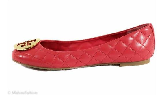 Flats Tory Burch Originales Color Rojo Talla 7.5