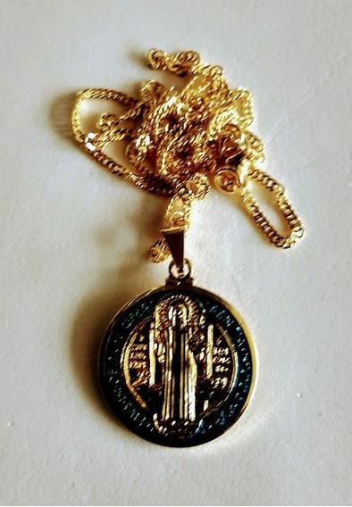12 Folheados Medalha De São Bento Atacado
