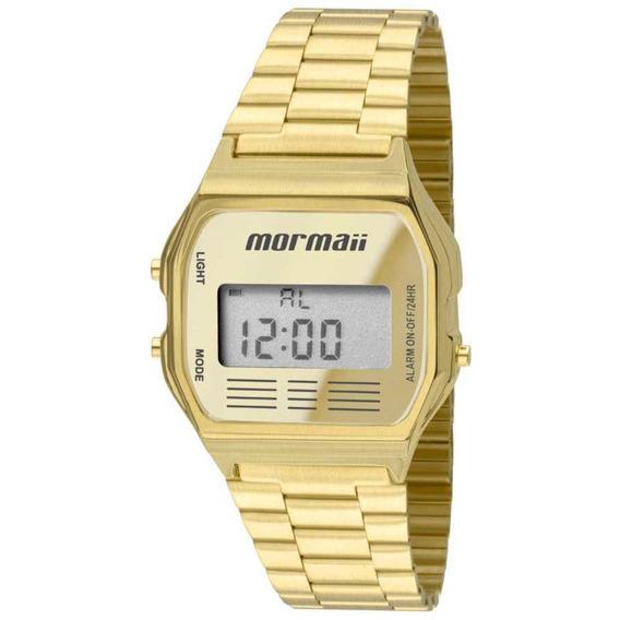 Relógio Mormaii Vintage Digital Dourado Feminino Mojh02ab/4d