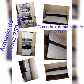 Cama Box Dupla Solteiro,armário Cozinha,geladeira E Fogão