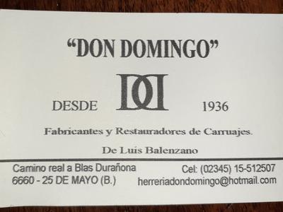 Don Domingo Fabricantes Y Restauradores De Carruajes