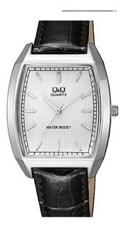 Reloj Clásico Hombre Qyq Elegante Cuero Genuino Q&q Class