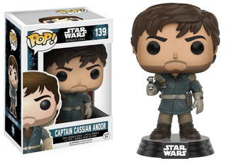 Funko Pop 139 Star Wars Captain Cassian Andor Playking