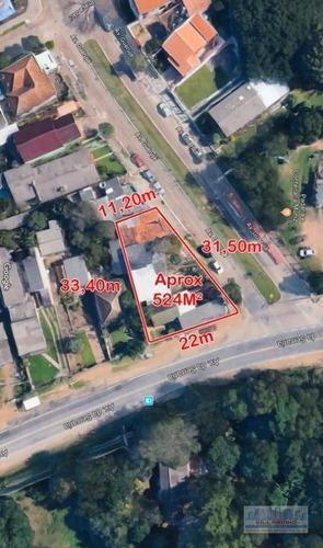 Terreno À Venda, 524 M² Por R$ 425.000,01 - Guarujá - Porto Alegre/rs - Te0113
