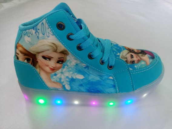 Botinhas Infantil Com Led Frozen Meninas 28 Ao 34.