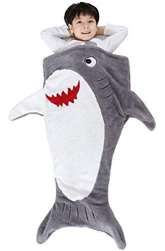 Imagen 1 de 7 de Sinogem Shark Blanket Para Niños, Estilo De Bolsillo Kids Ta