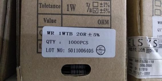 Resistor Wr 1wtb 20r 1/4w 5% 3000 Peças Frete Grátis
