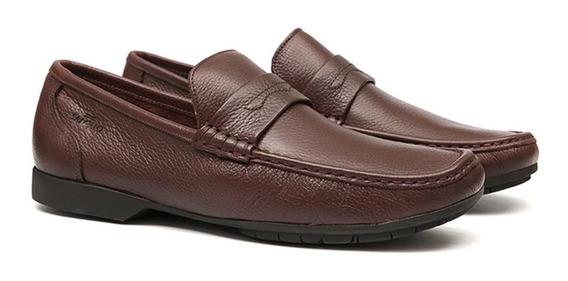 Sapato Social Masculino Samello Loafer Barrom Chocolate