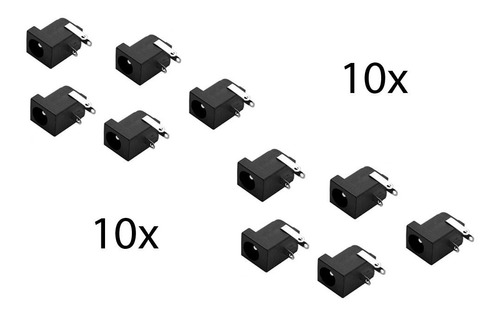 10 X Conector Jack P4 Fêmea Para Fontes C/plug P4 2.1mm