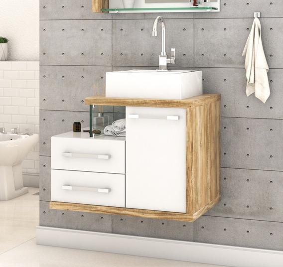 Gabinete Armário P/banheiro (balcão C/cuba Q355) Legno 650
