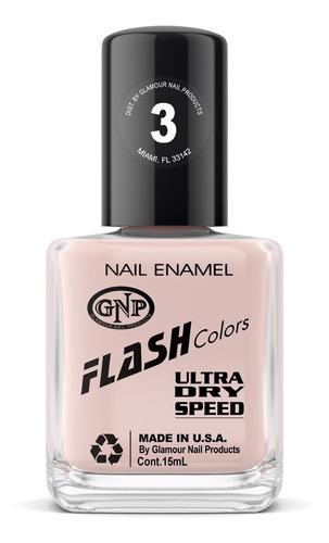 Imagen 1 de 4 de Esmalte Flash Colors De Gnp 15ml Nro.3