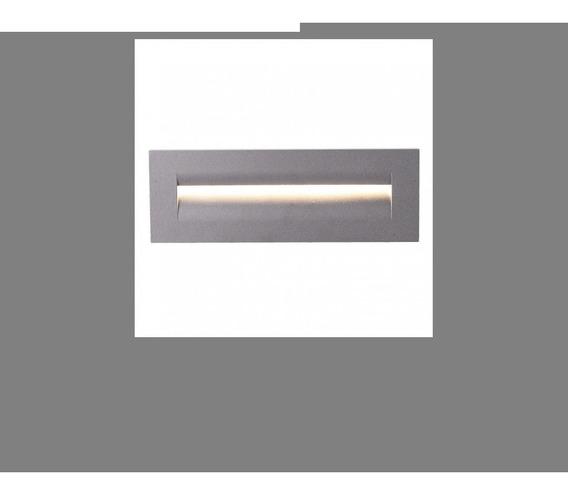 Luminario Empotrar Acero Fundido Plastico Gris 8.5w