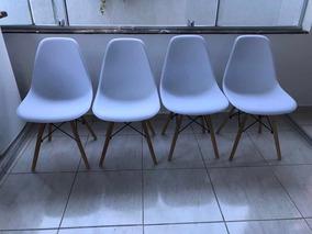 4 Cadeiras Brancas Novas, 600 Entrego No Centro De Barueri