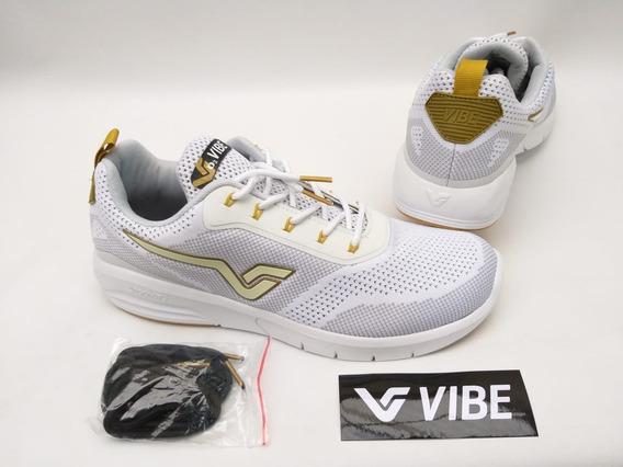Tênis Vibe Shoes Prolific Branco Dourado Skate Promoção