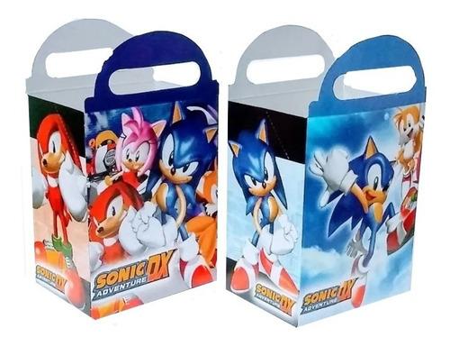 Imagen 1 de 2 de Sonic 50 Cajas Dulceras 25 Globos Impresos