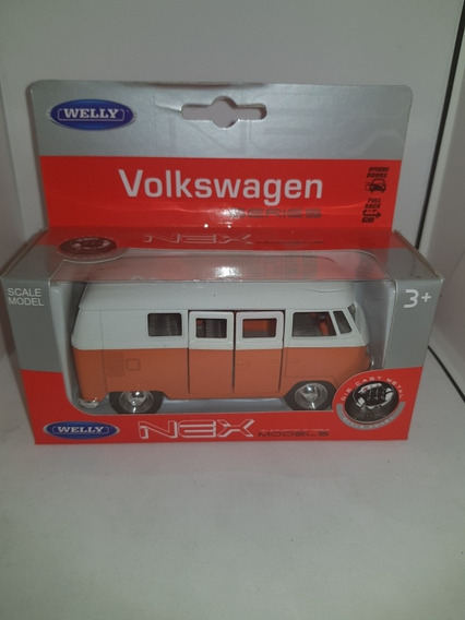 Volkswagen Kombi Welly No Inolvidables Naranja 1:32