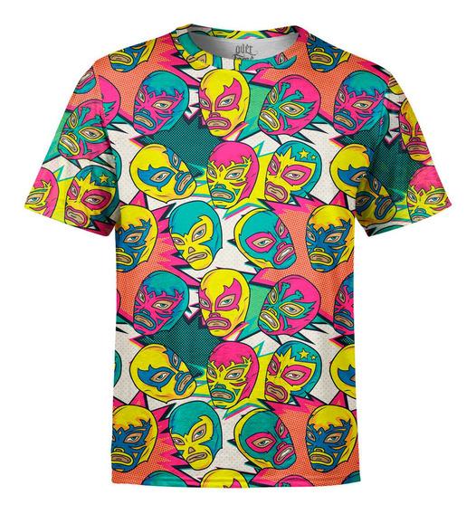 Camiseta Masculina Lucha Libre Westler Mexicano