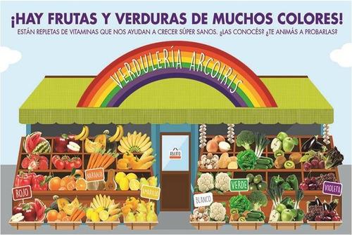 Imagen 1 de 1 de Póster Educativo Verdulería Arco Iris