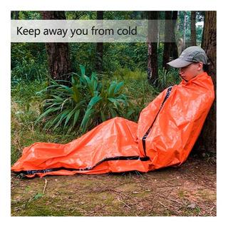 Saco De Dormir De Emergência 125g Reutilizável Sobrevivência
