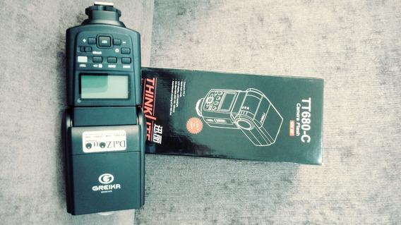 Flash E-ttl Speedlite Godox Greika Tt680 P/ Canon / Tt680