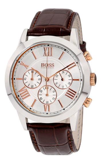 Relógio Masculino Hugo Boss 1512728 Pulseira De Couro