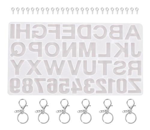 Imagen 1 de 5 de Moldes De Resina Alfabeto Bavard Letra Número Molde De Sili