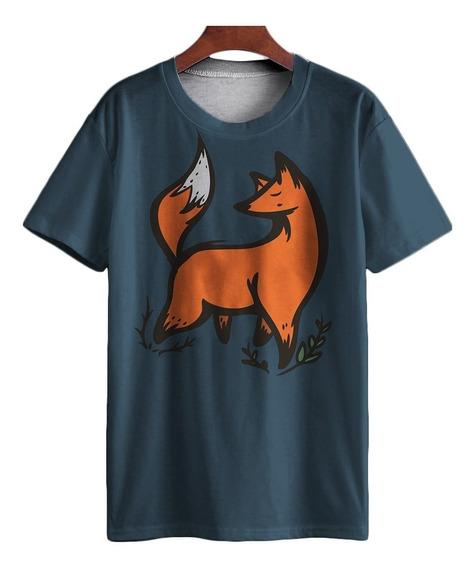 Camiseta Personalizada Ilustração Raposa Tumblr Vintage Mt