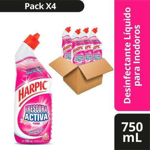 Imagen 1 de 1 de Harpic Desinfectante Indoros Liq Floral 750ml X4und