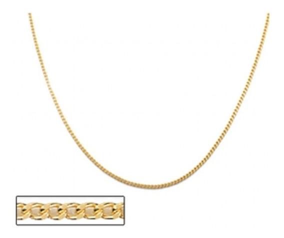 Cordão Rommanel Folheado Ouro Cadeado Batido 50cm 530308