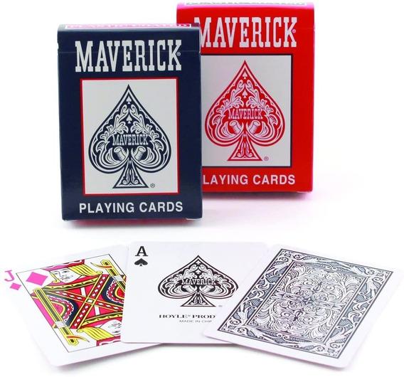 10 Baralhos Maverick Pôquer Papel Plastificado Original