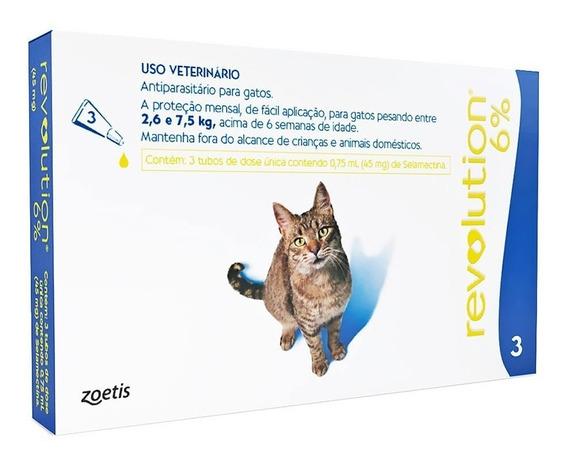 Revolution 6% Combo Para Gatos 2,6 A 7,5 Kg +nf