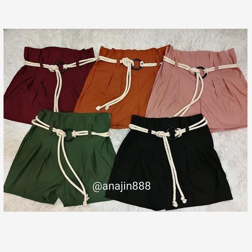 Short Shortinho Feminino Cintura Alta Cordão Bengaline 2019