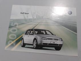 Golf Sport 2005 Calalogo Brochura Folder