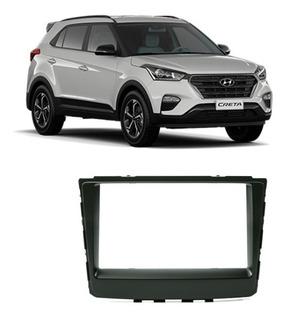 Moldura 2 Din Hyundai Creta 2017 2018 2019 Preta Jp Ch