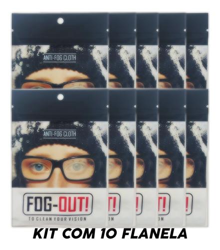 Imagem 1 de 5 de Kit C/10 Flanela Com Efeito Antiembacante P/ Oculos Ate 36h