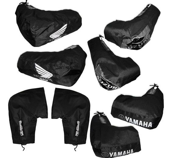 Cubre Manos Yamaha Honda Suzuki Gama + Guantes 1° Piel - Fas