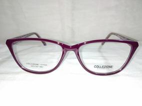 Montura Lentes Dama Agatados Modernos Violetas